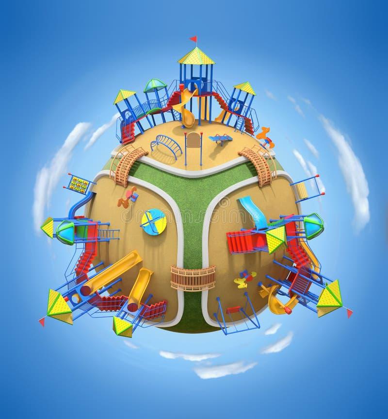 Planète de terrain de jeu illustration de vecteur