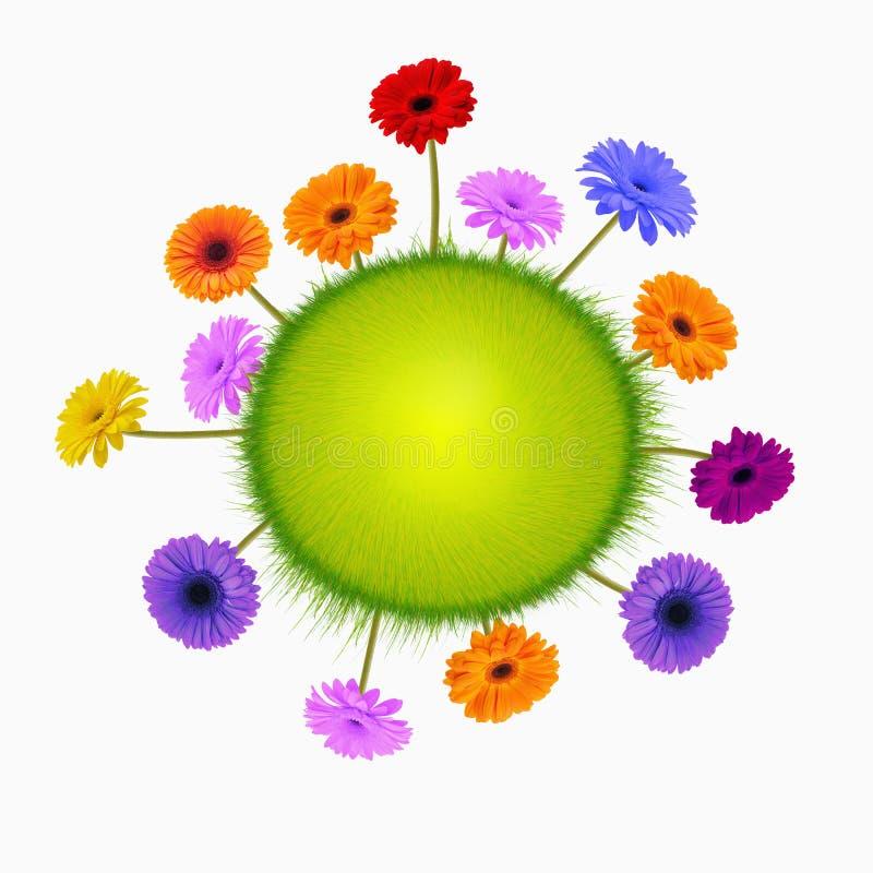 Planète des gerbers de fleurs : photographie stock libre de droits