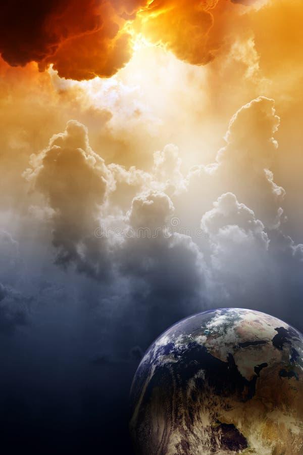 Planète en danger illustration de vecteur