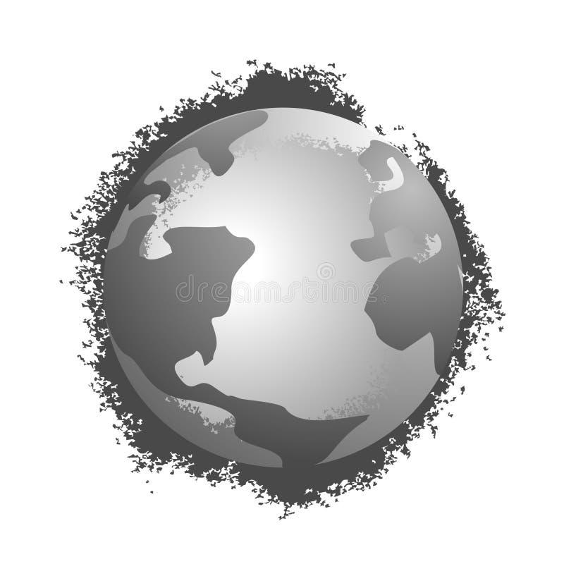 Planète en métal illustration de vecteur