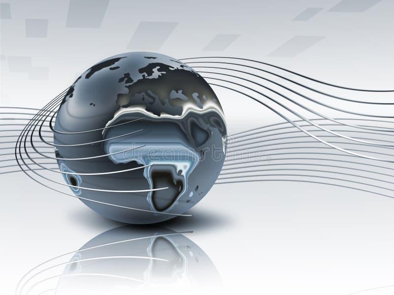 planète en métal 3d illustration de vecteur