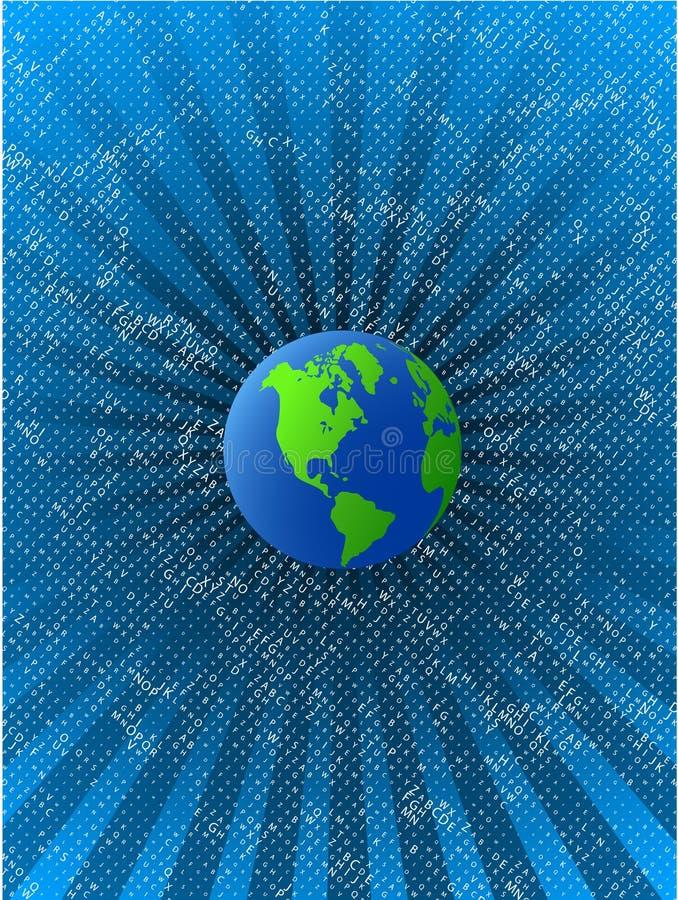 Planète grean bleue de vecteur sur le fond de l'espace illustration stock