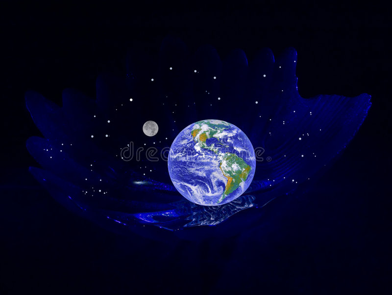 Planète la terre dans un berceau image stock