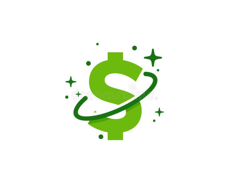 Planète Logo Icon Design d'argent illustration stock