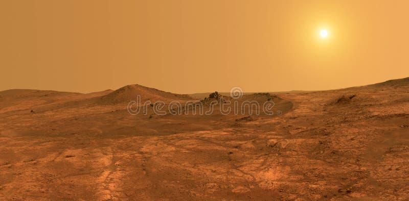 Planète Mars - éléments de cette image meublés par la NASA photo libre de droits