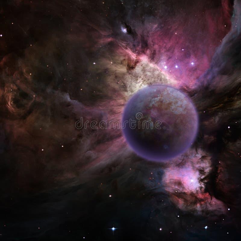 planète mystérieuse illustration libre de droits
