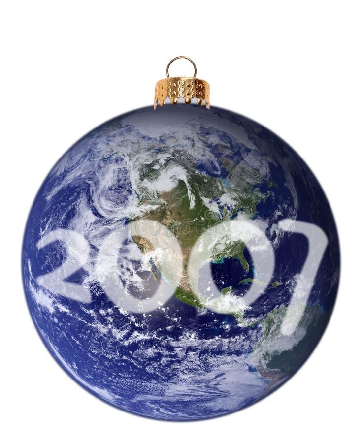 Planète neuve heureuse 2007 illustration stock