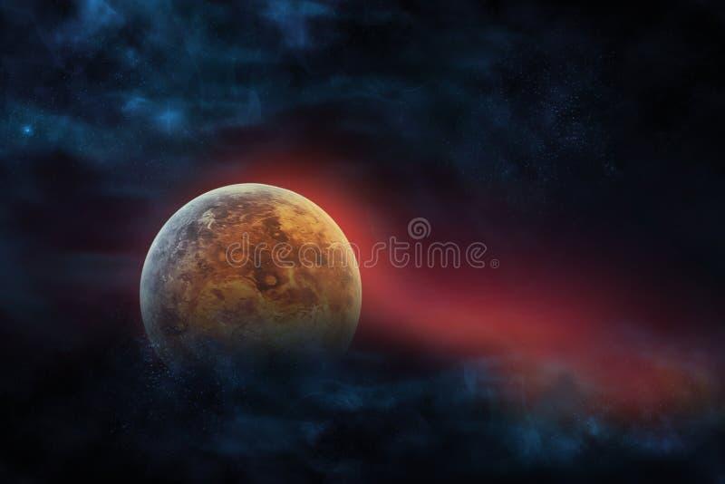 Planète numérique céleste de Vénus d'art de série de concept d'espace extra-atmosphérique illustration libre de droits