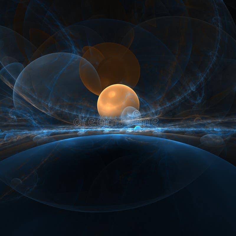 Planète orange illustration stock