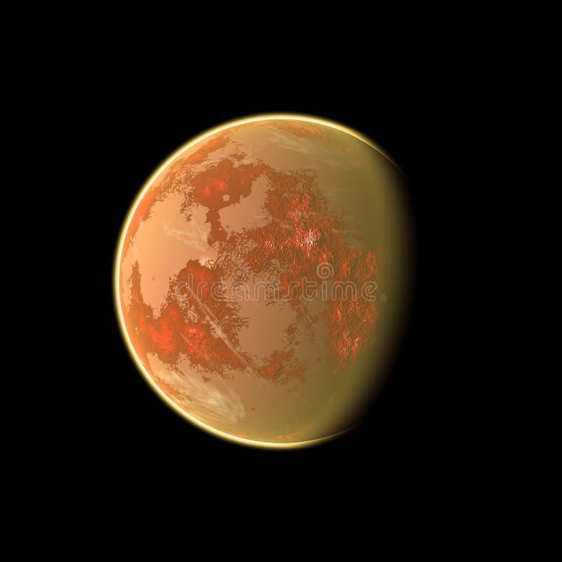 Planète orange illustration libre de droits