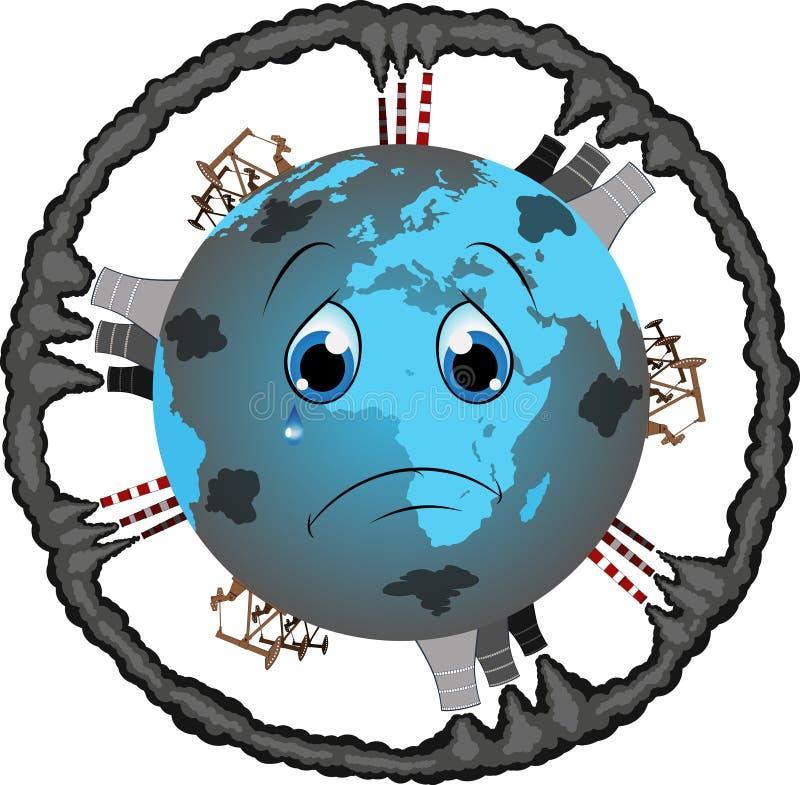 Dessin De La Terre Polluée