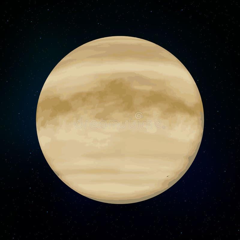 Planète réaliste de Vénus illustration libre de droits