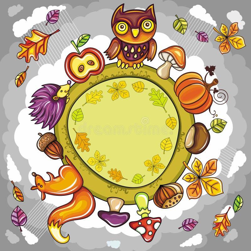 Planète ronde d'automne illustration libre de droits