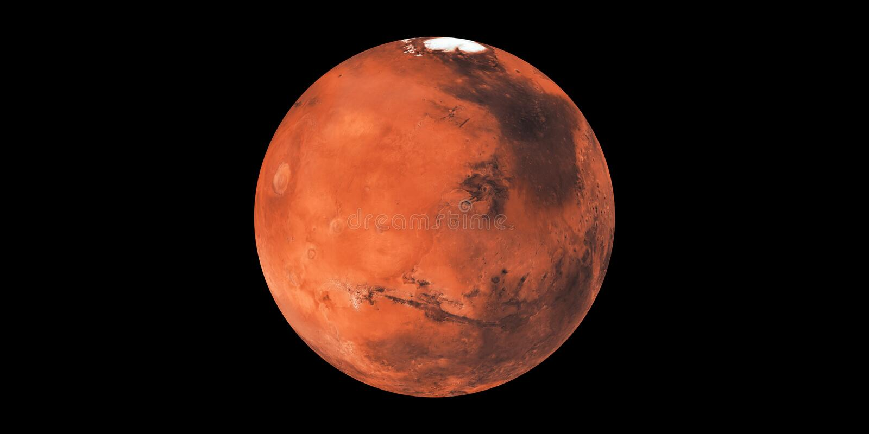 Planète rouge de planète de Mars dans l'espace photos stock