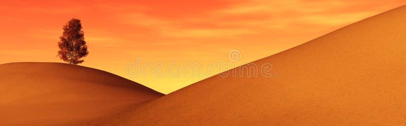 Planète rouge, paysage panoramique de Mars photo libre de droits