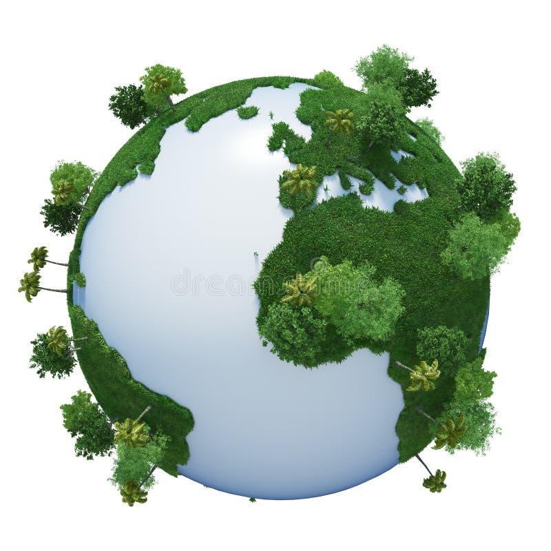 planète verte de la terre image libre de droits