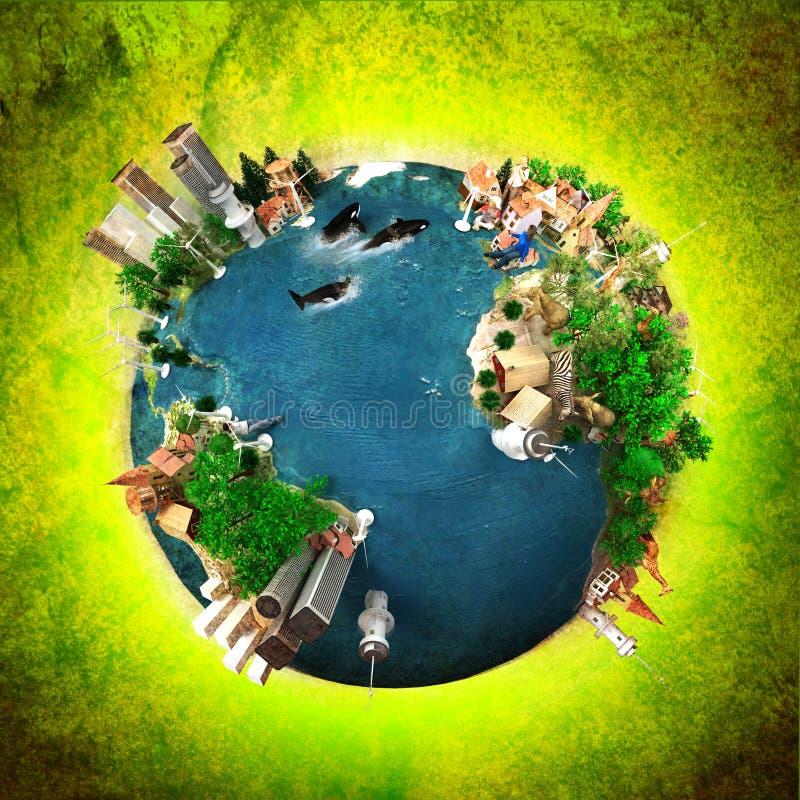 Planète viable illustration de vecteur