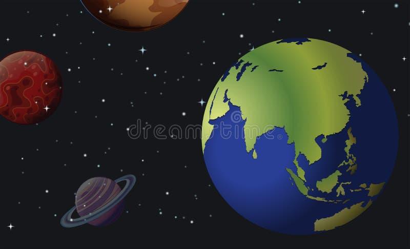 planètes illustration libre de droits