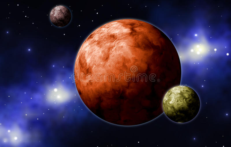 Planètes d'Extrasolar illustration stock