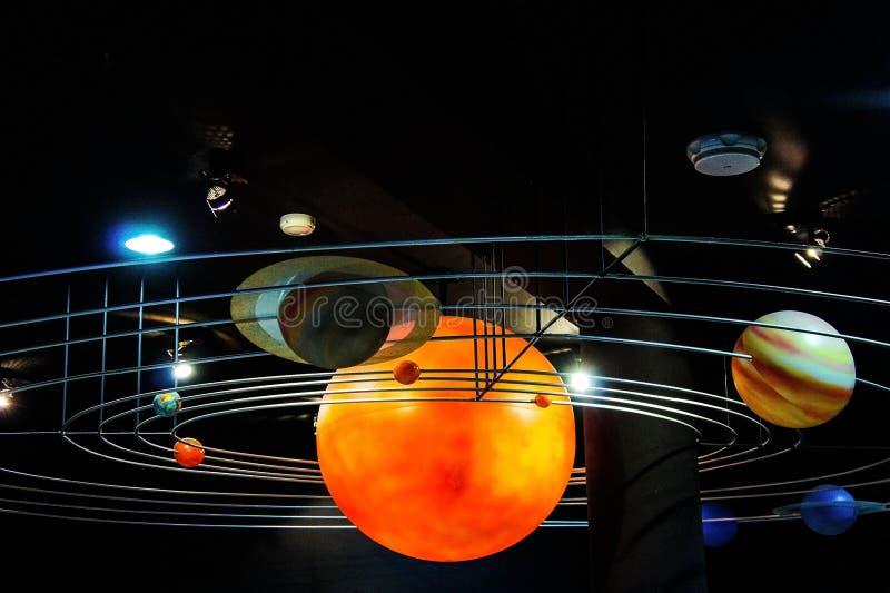 Planètes de système solaire image libre de droits
