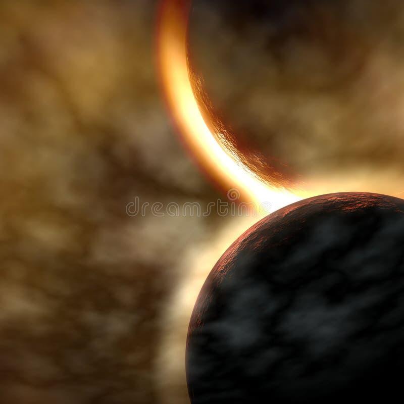 planètes deux illustration de vecteur