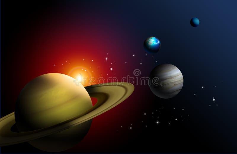 Planètes du système solaire illustration stock