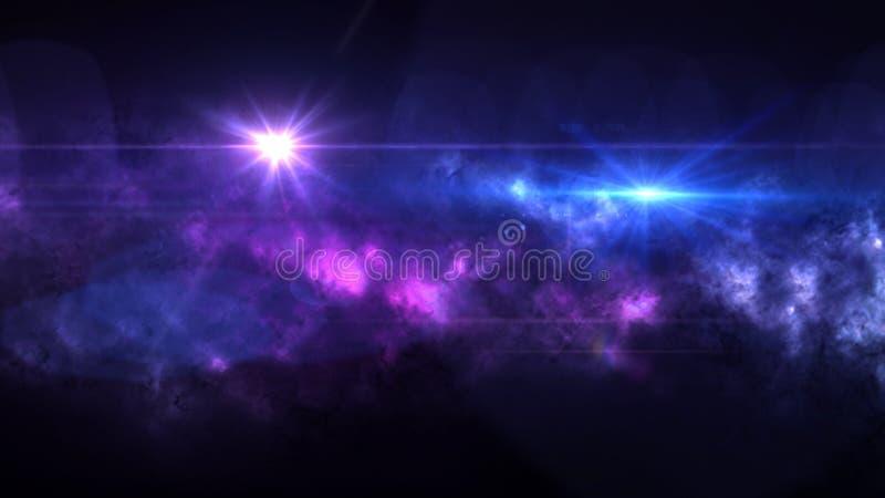 Planètes et galaxie, cosmos, cosmologie physique photo libre de droits