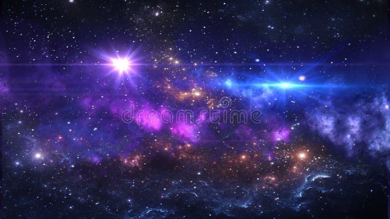 Planètes et galaxie, cosmos, cosmologie physique images libres de droits