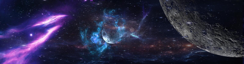 Planètes et galaxie, papier peint de la science-fiction photo libre de droits