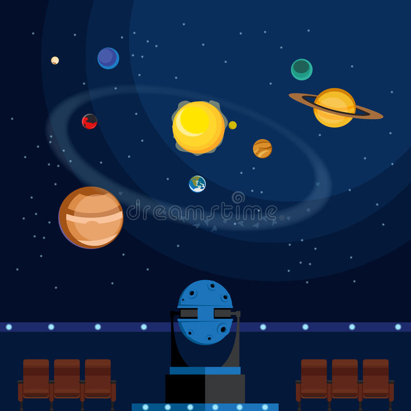 planétarium illustration stock