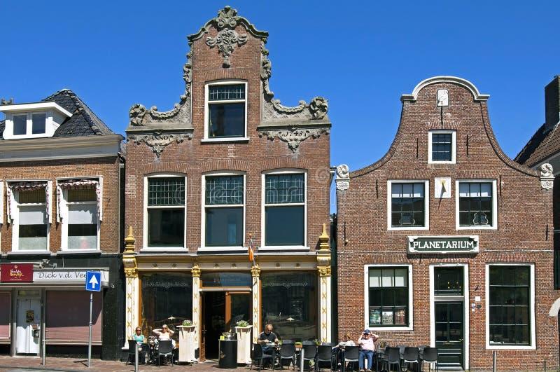 Planétarium de musée et café extérieur, Franeker photographie stock