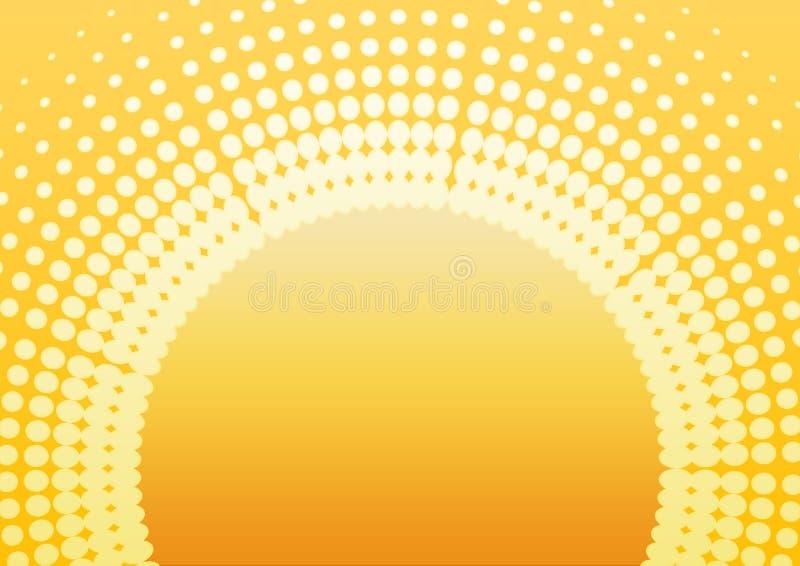 Planície retro do sol ilustração do vetor