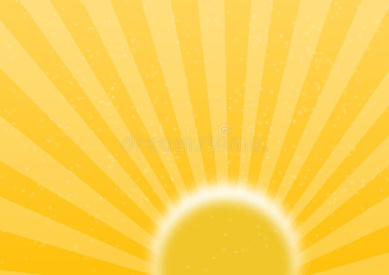 Planície retro do sol ilustração royalty free