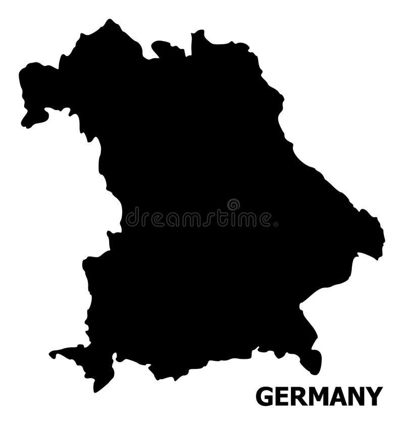Plan översikt för vektor av Tyskland med namn vektor illustrationer