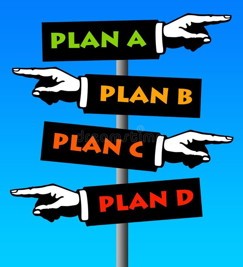 Plan royaltyfri illustrationer
