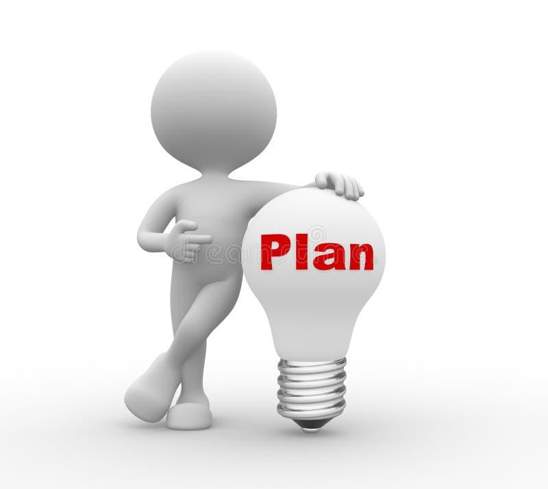Plan illustration stock