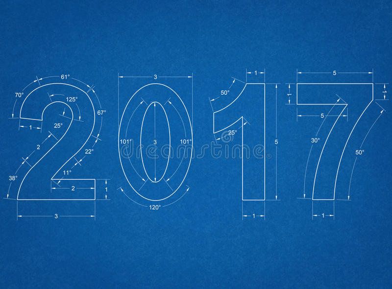 2017 - Plan lizenzfreies stockfoto
