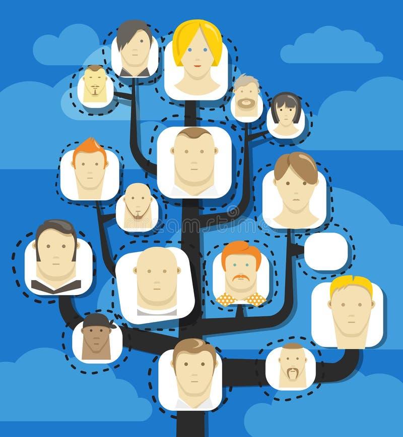 Plan abstrait de communication illustration stock