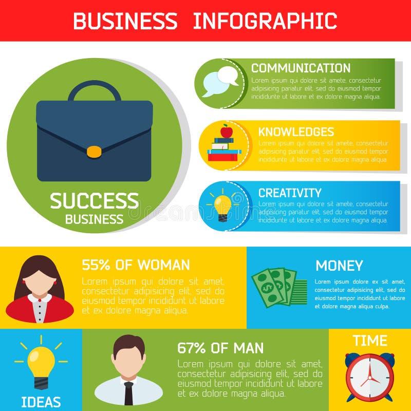 Plan affärsInfographic bakgrund stock illustrationer