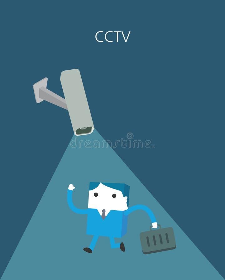 Plan affärsteckenserie cctv-begrepp stock illustrationer