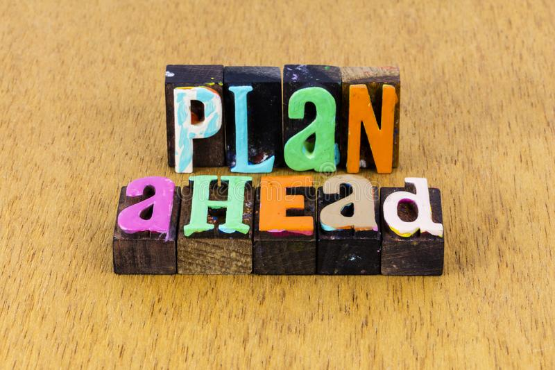 Plan ahead business strategy career planning success retirement stock photos