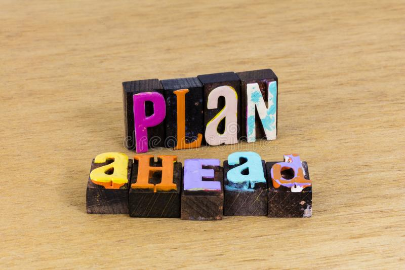 Plan ahead business strategy career success planning goal stock photography