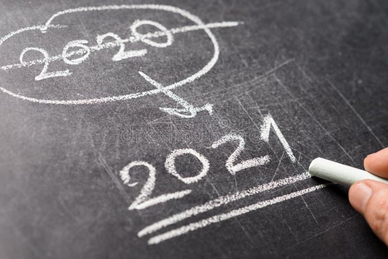 Plan Anual 2021 En La Pizarra Imagen de archivo - Imagen de pizarra, anual:  199380695