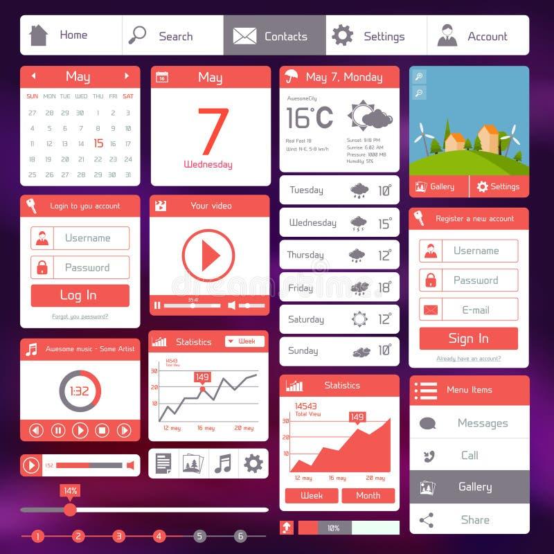 Plan användargränssnittmall stock illustrationer