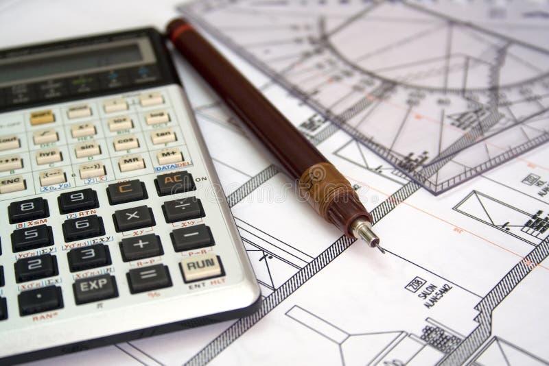 Plan architectural photo stock