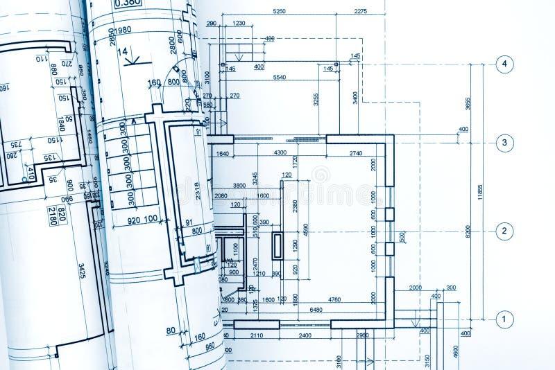 Plan Architectural Avec Les Modèles Roulés De La Rénovation De