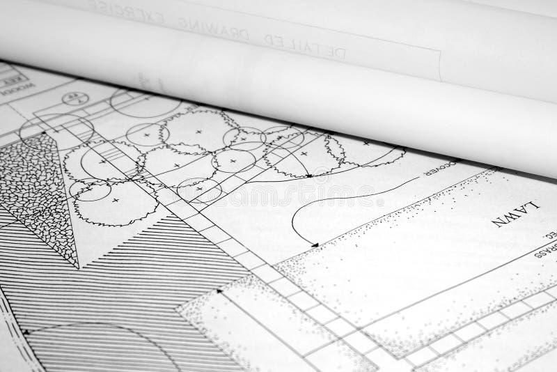 Plan architectural d'horizontal photographie stock