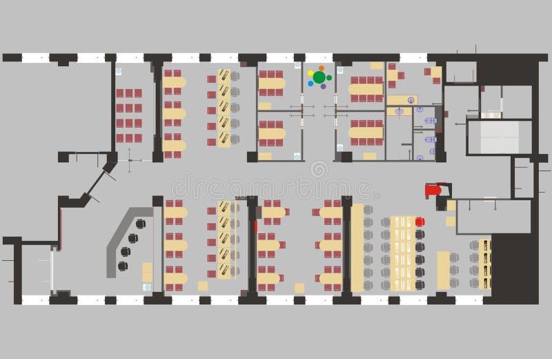 Plan-Büro vektor abbildung