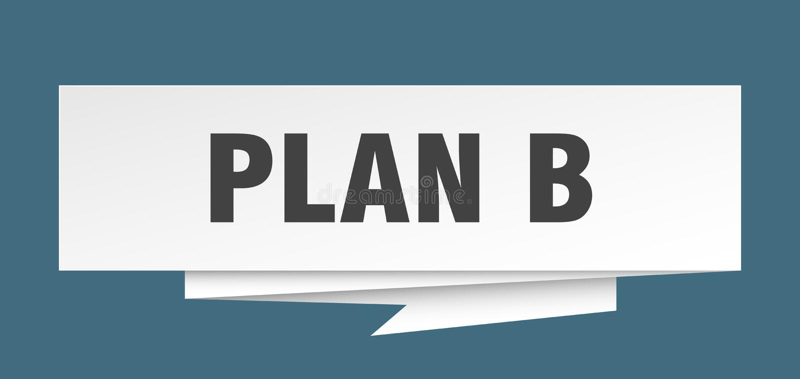 Plan B illustration de vecteur