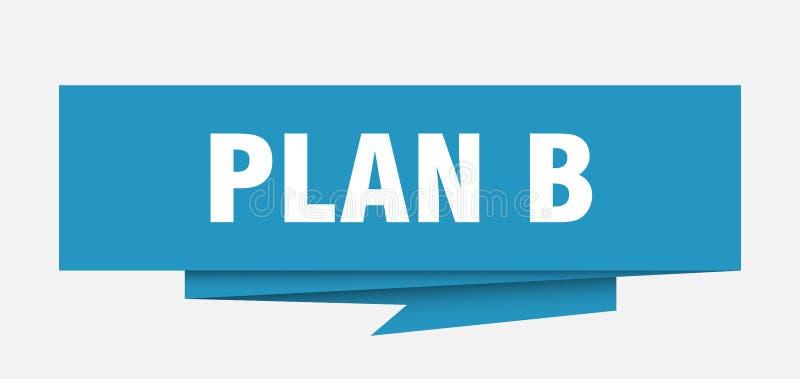 Plan B royaltyfri illustrationer